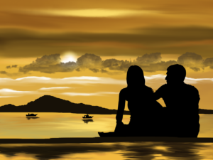 Couple on the Water